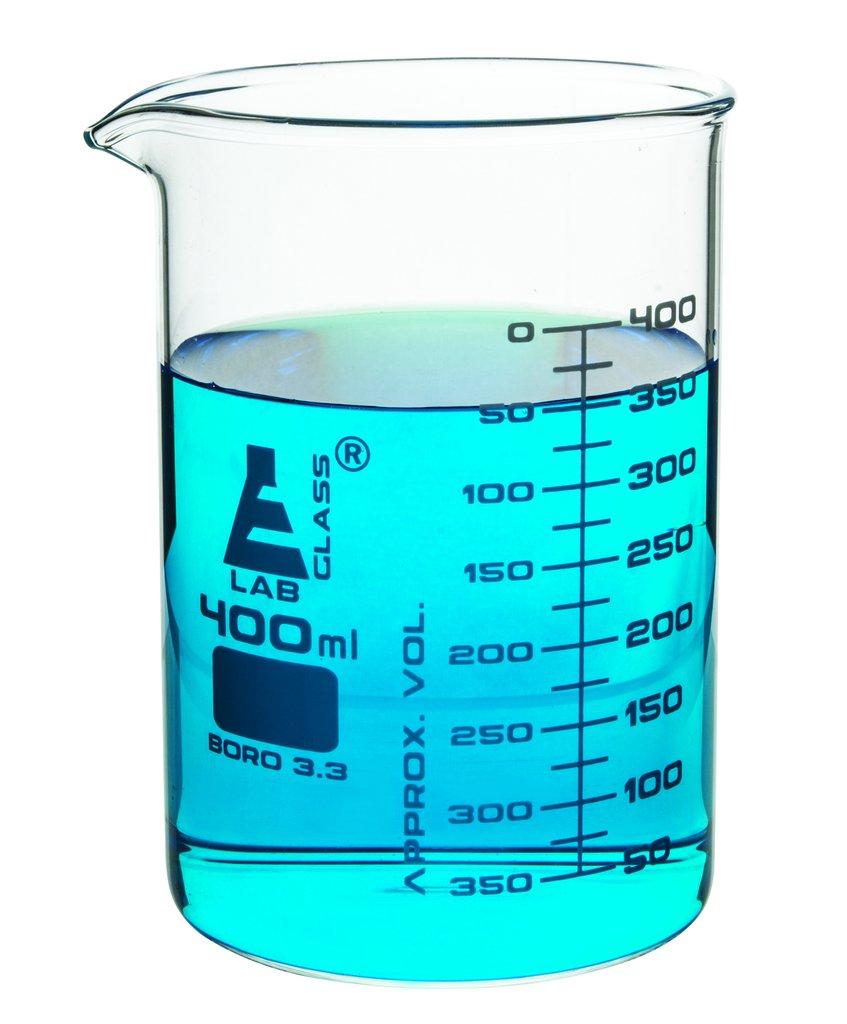 Beaker Low Form Glass Graduated 400ml